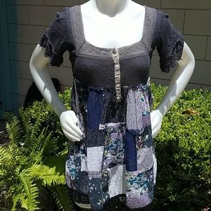 Free People Tunic Med. Quilted Look GUC